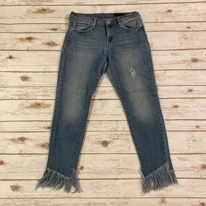 Blank NYC The Reade Skinny Classique Fringe Hem